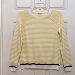 """Gap Yellow Striped Sweater! S. Bust 34"""""""